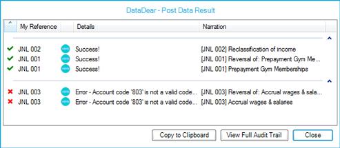 DataDear - POSTing success