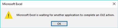 DataDear - OLE error / warning